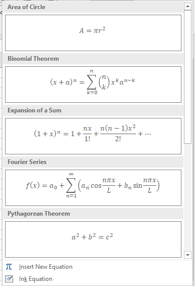 how to make equations in excel