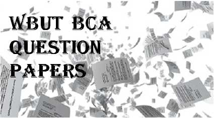 WBUT BCA Question Papers | Padhle
