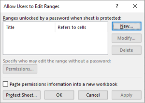 Protecting Excel Sheet 4